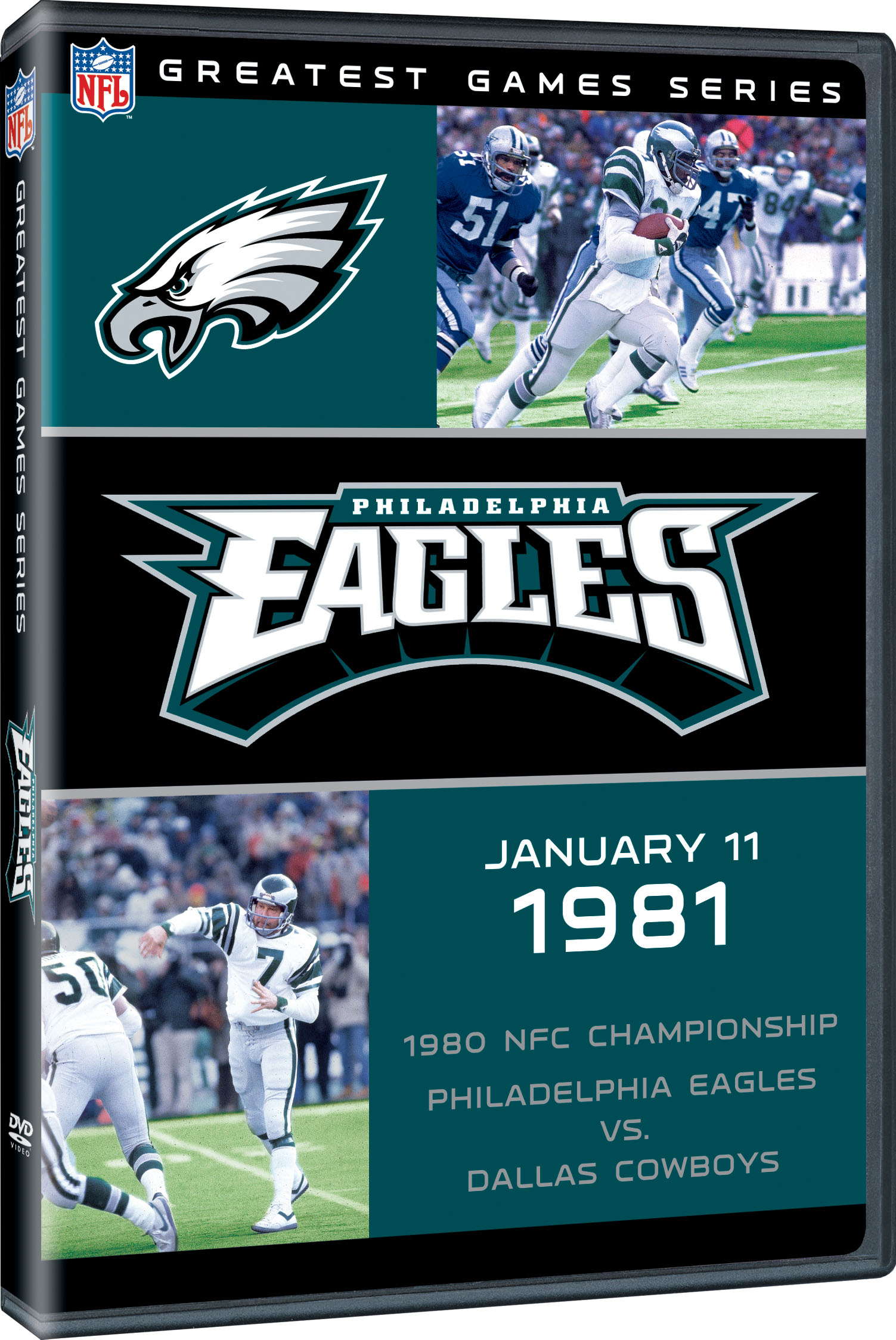 Greatest games philadelphia eagles 1980 nfc championship for 1980 floor show dvd