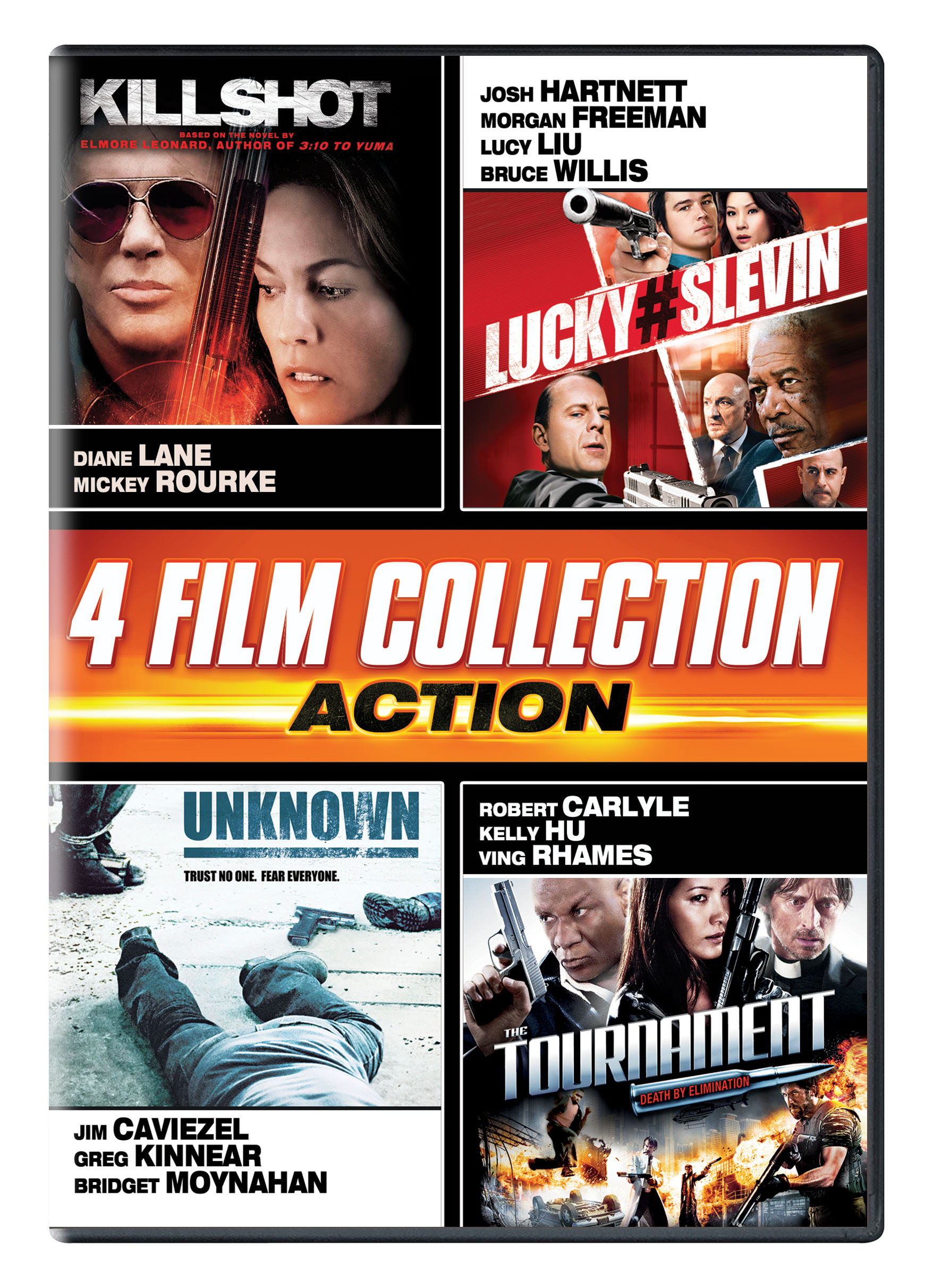 Action Quad (Killshot, Lucky # Slevin, Unknown, The Tournament ...
